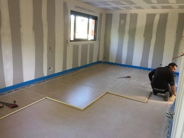 plancher chauffant et pac piscine pour une maison neuve. Black Bedroom Furniture Sets. Home Design Ideas